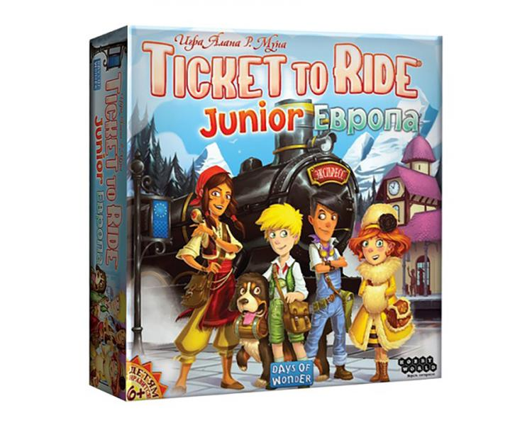 Настольная игра Ticket to Ride Junior: Европа Hobby world